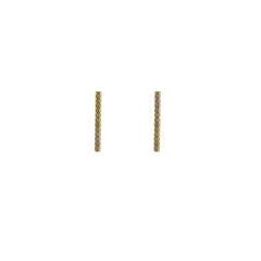 CZ Bar (1.2cm) Gold Sterling Silver Studs