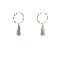 Triple circle Sterling Silver Pull-Thru Chain Earrings