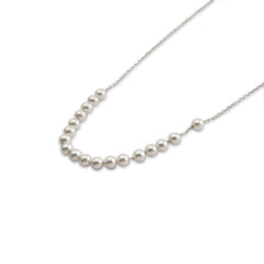 Lots of SW Pearls Sterling Silver Short Necklace
