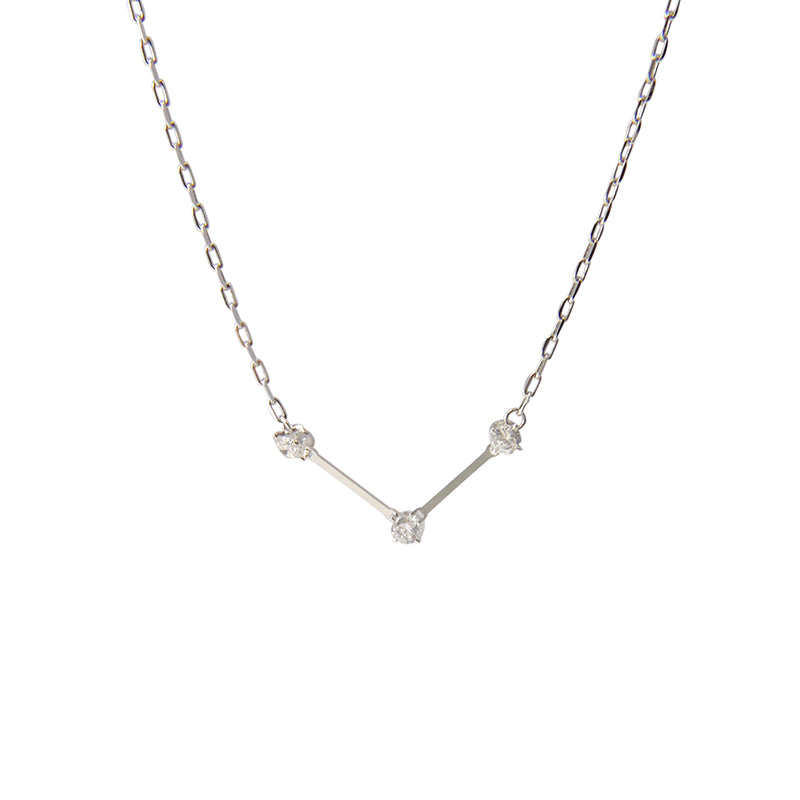 Bar with Clear crystal Necklace