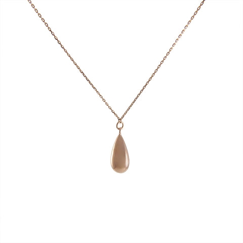 3D Waterdrop Rose Gold Sterling Silver Necklace