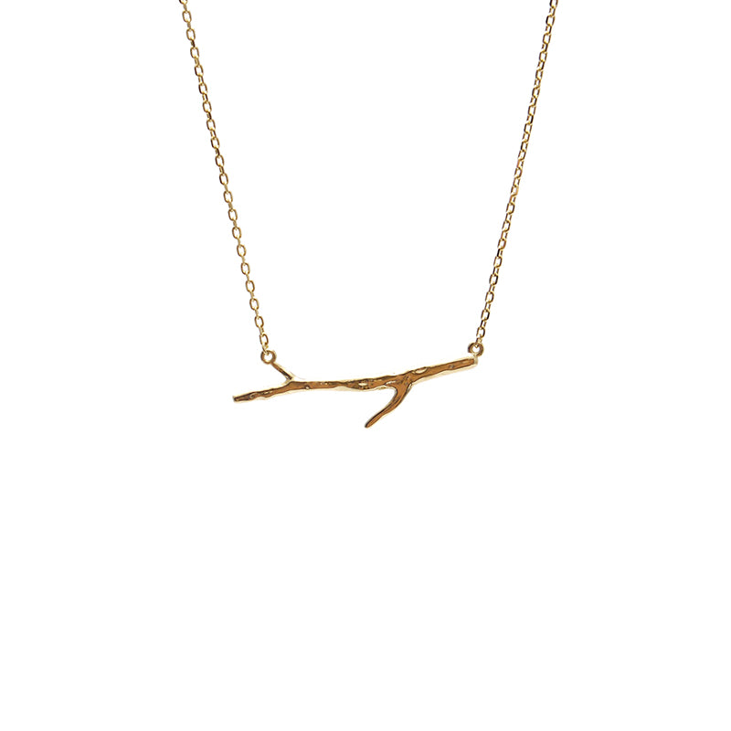Thin Branches Gold Sterling Silver Necklace