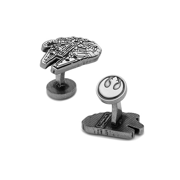 Star War - Millennium Falcon Silver Cufflinks