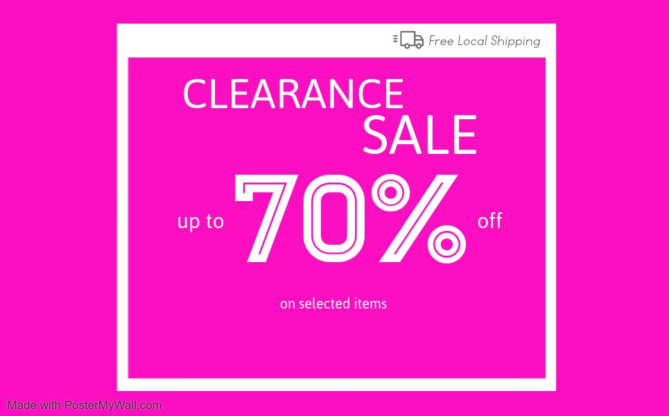 Sales items up to 70% Off
