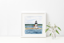 Load image into Gallery viewer, Brant Point Light (Framed Original)