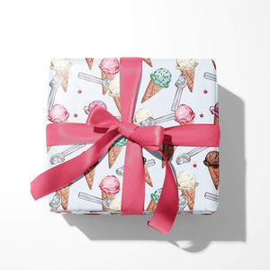Ice Cream Gift Wrap Sheets