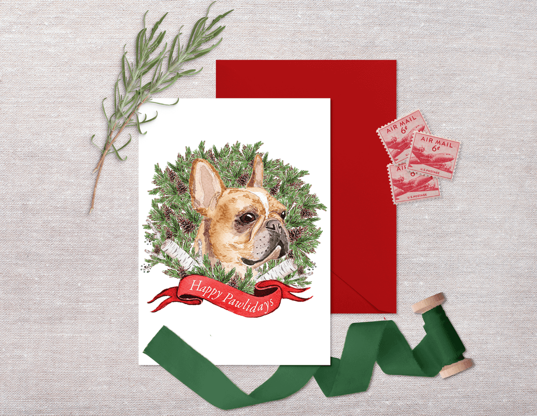 Frenchie Holiday Card Set