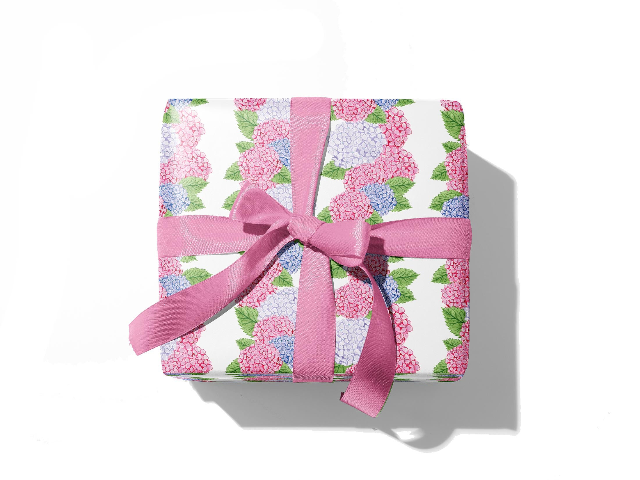 Pink Hydrangea Gift Wrap Sheets