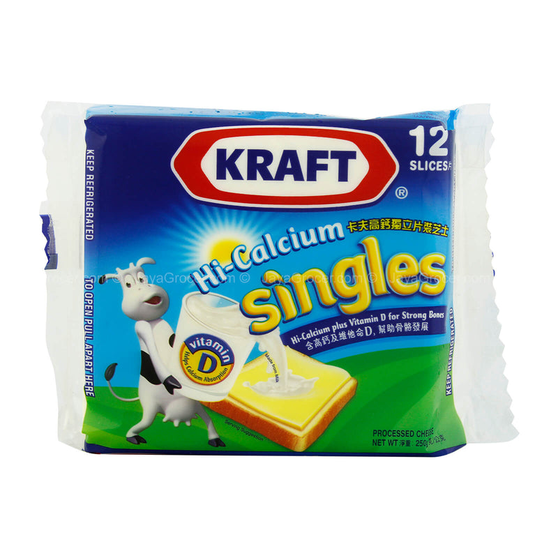 Kraft Singles Hi-Calcium Processed Cheese 250g