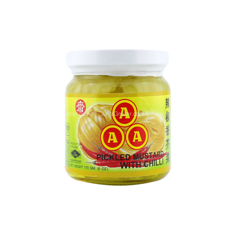 AAA Pickled Mustard with Chilli 170g