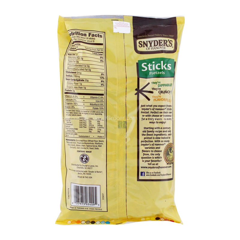 Synder's Of Hanover Pretzel Sticks 255.2g