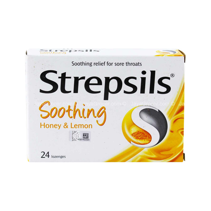 Strepsils Soothing Honey & Lemon Sore Throat Relief Lozenges 1 box