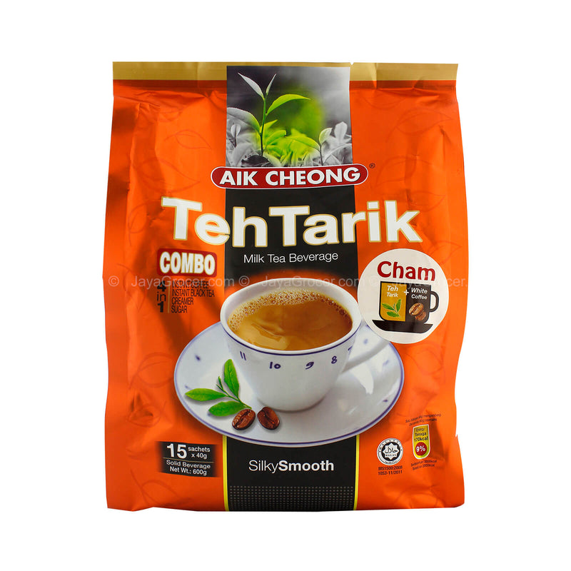 Aik Cheong Teh Tarik Cham (Milk Tea + White Coffee) 40g x 15