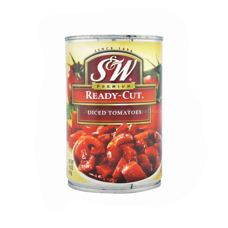 S&W Premium Ready-Cut Diced Tomatoes 411g