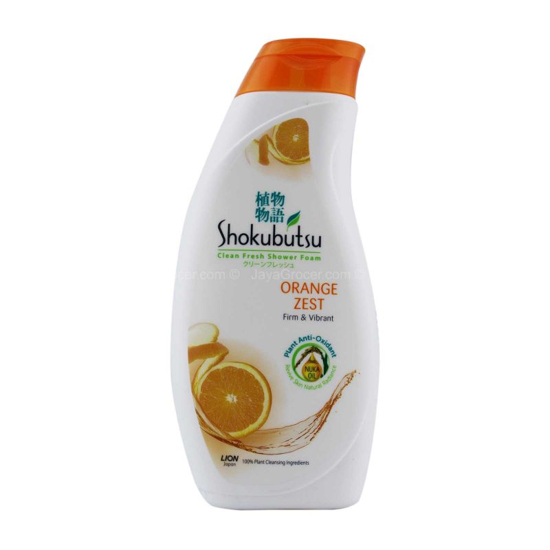 Shokubutsu Orange Peel Sensation Shower Foam 220ml