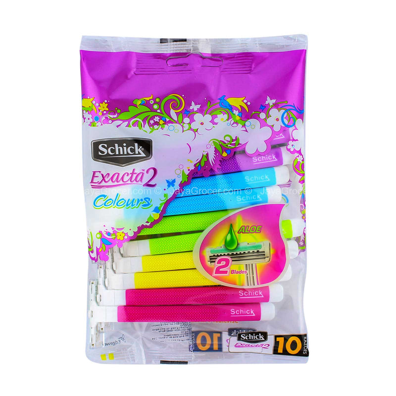 Schick Exacta 2 Colours Razor 10pcs