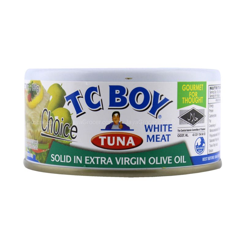 TC Boy White Meat Tuna Solid in Extra Virgin Olive Oil 180g