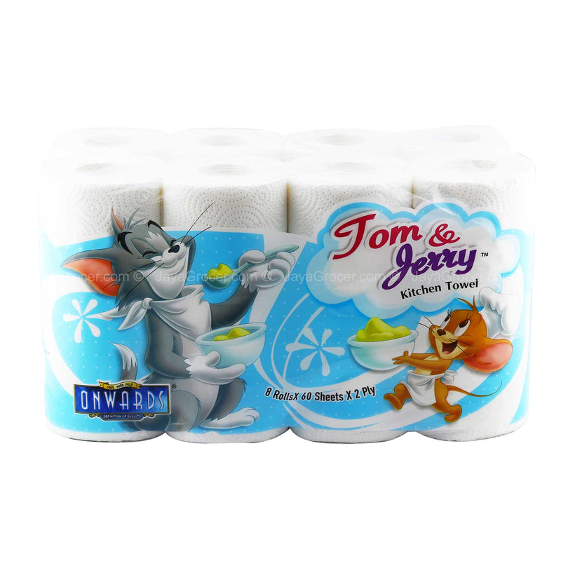 Onwards Tom & Jerry Kitchen Tissue 60sheets x 8rolls