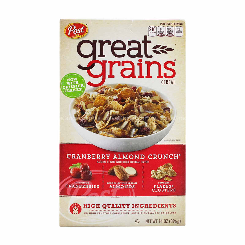 Post Cranberry Almond Crunch Great Grains Cereal 397g