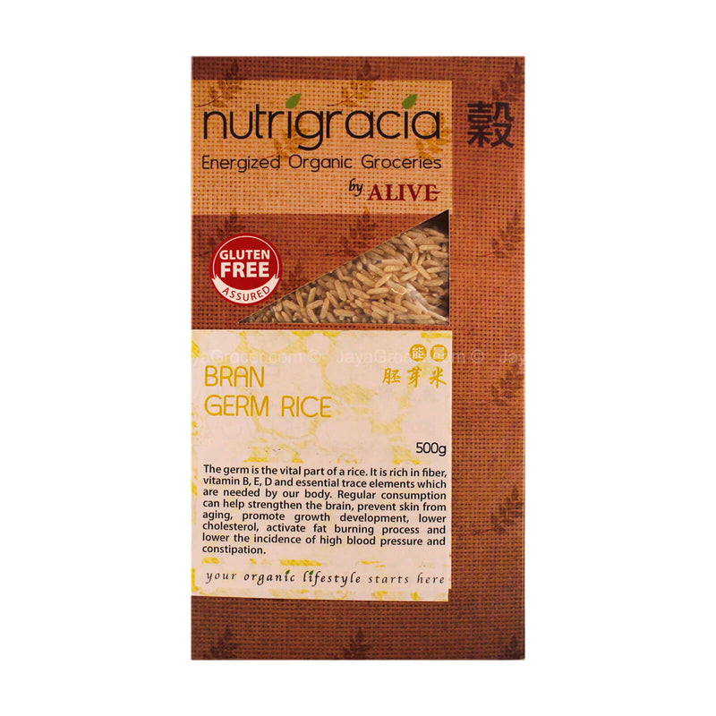 Nutrigracia Energized Groceries by Alive Bran Germ Rice 500g