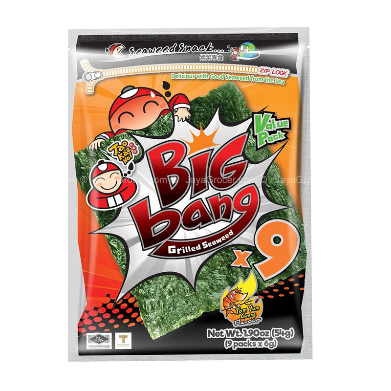 Tao Kae Noi Big Bang Tom Yum Goong Flavour Grilled Seaweed 32g