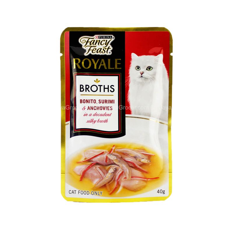 Fancy Feast Royale Bonito, Surimi & Anchovies Broths 40g
