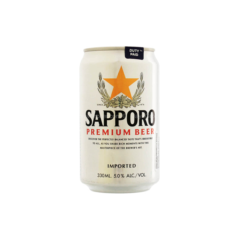Sapporo Premium Beer Imported Can 355ml