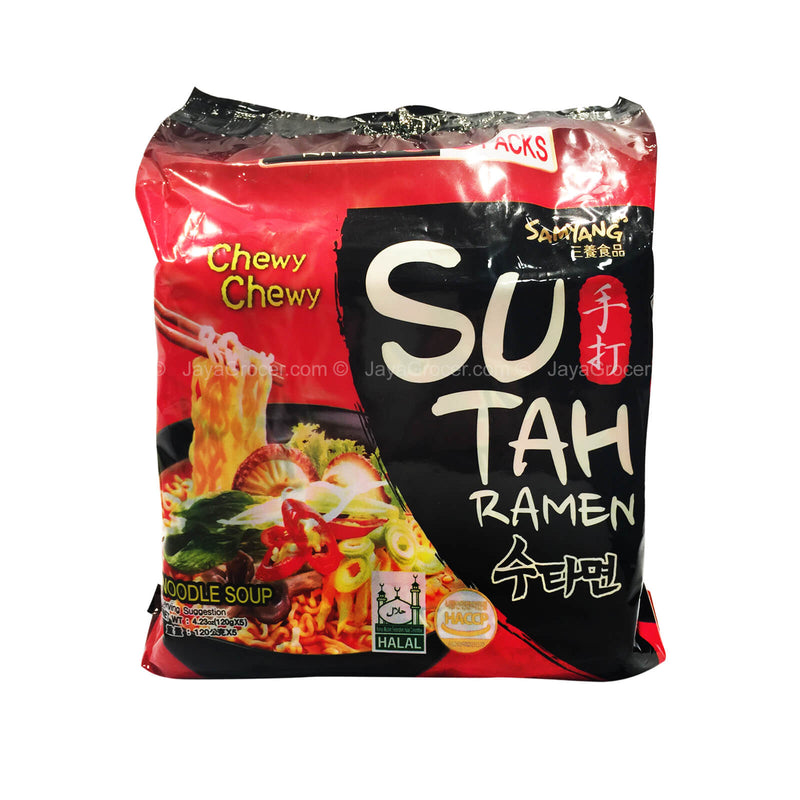 Samyang Ramen Sutah Hot and Spicy Flavour 120g x 5