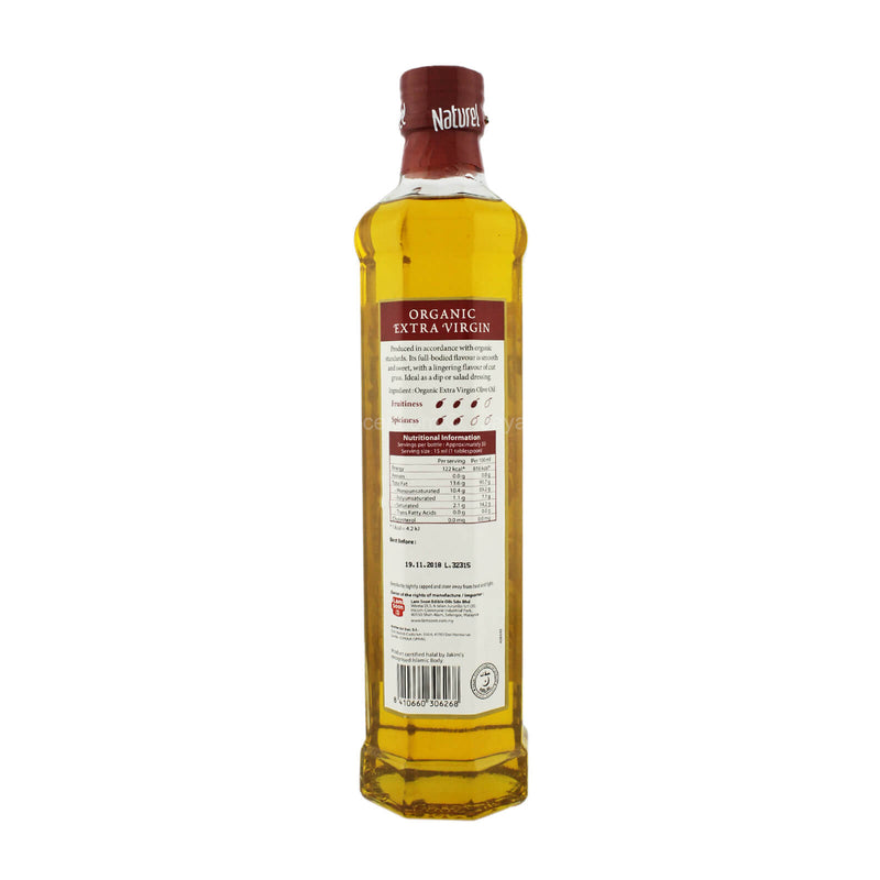 Naturel Organic Extra Virgin Olive Oil 500ml
