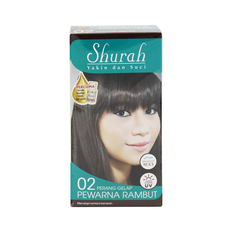 Shurah Hair Dye Colour (02 Dark Brown) 40g