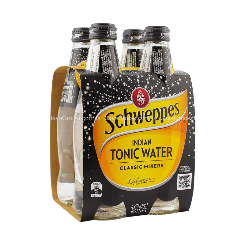 Schweppes Indian Tonic Water 300ml x 4