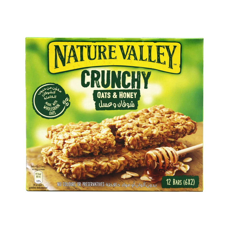 Nature Valley Oats and Honey Crunchy Granola Bars 42g x 6packs