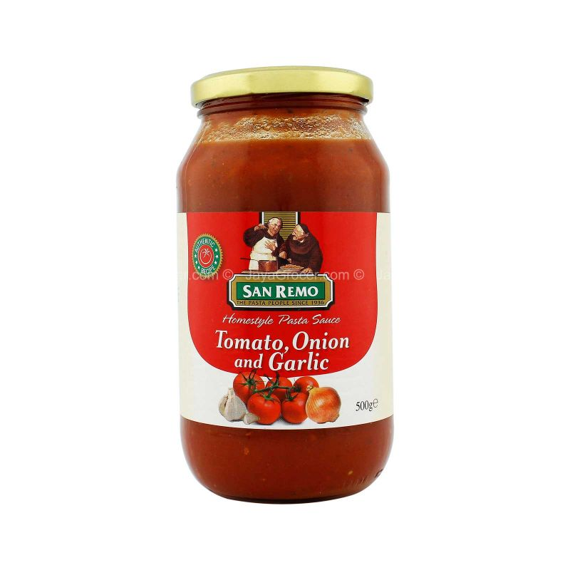San Remo Tomato, Onion and Garlic Homestyle Pasta Sauce 500g