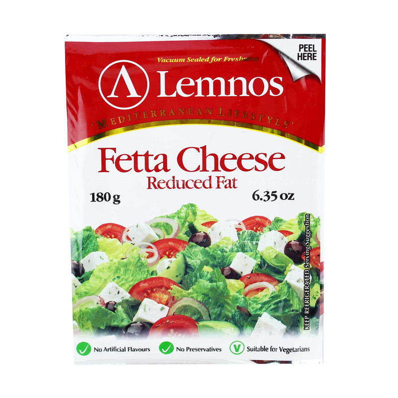 Lemnos Feta Reduced Fat Cheese Block 180g