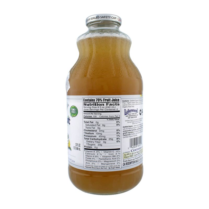 Lakewood Organic Lemonade Pure Fruit Juice 946ml