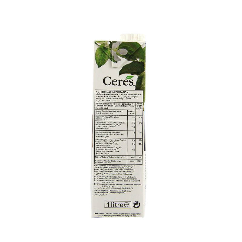 Ceres Mango 100% Fruit Juice 1L