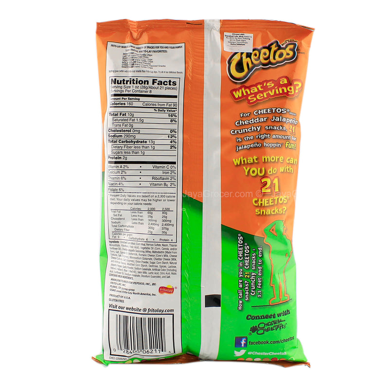 Cheetos Crunchy Cheddar Jalapeno Cheese Snack 226.8g