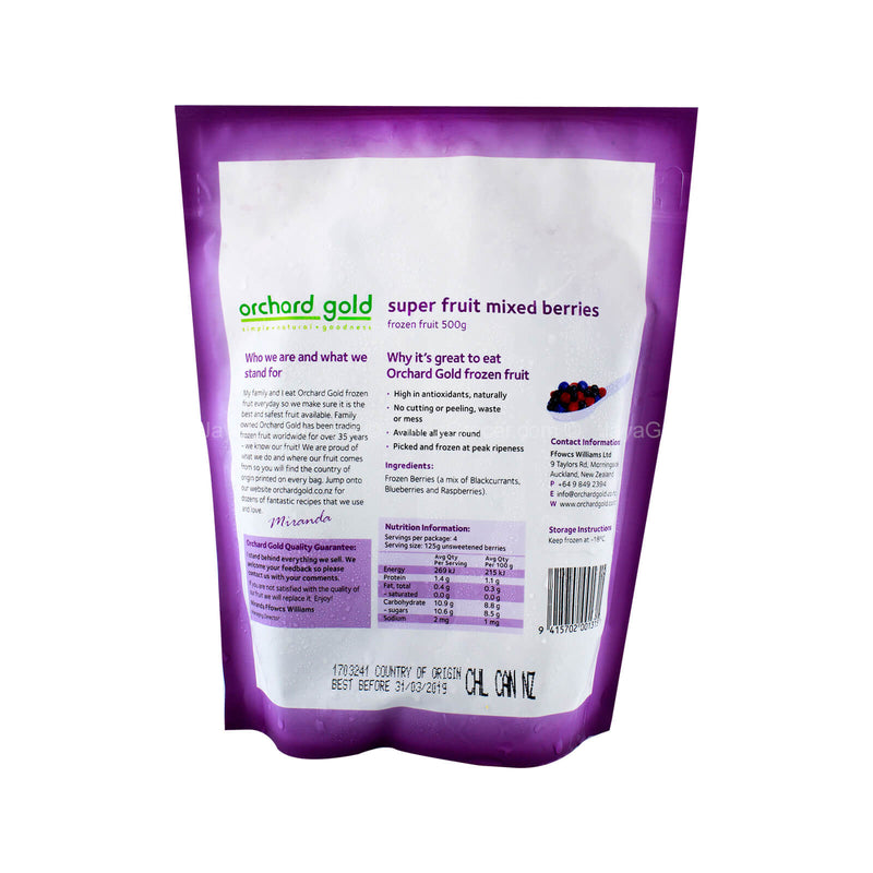 Orchard Gold Super Fruit Frozen Mixed Berries 500g