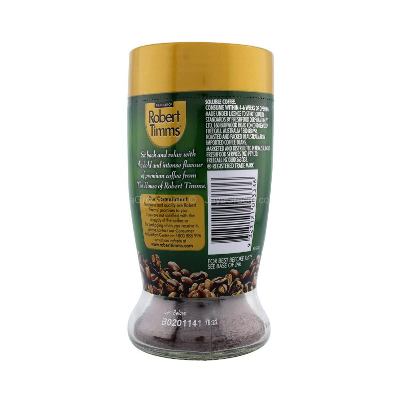 The House of Robert Timms Extra Dark Roasted Granulated Coffee 100g