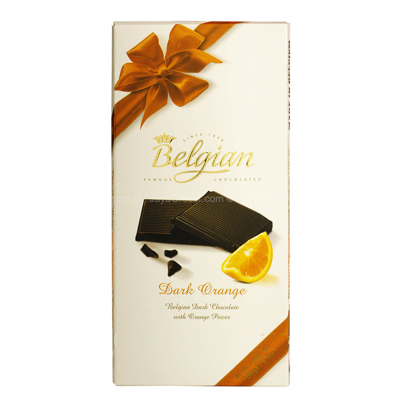 Belgian Dark Chocolate with Orange Pieces 100g