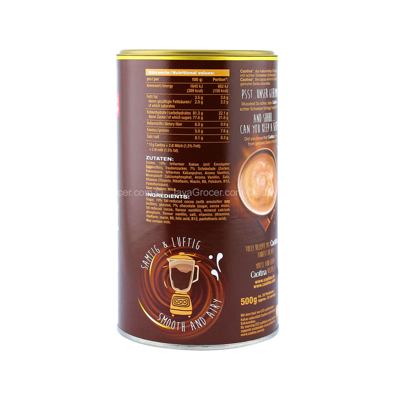 Caotina Cocoa Drink with Swiss Chocolate 500g