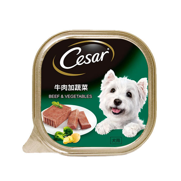 Cesar Beef & Vegetables Dog Food 100g