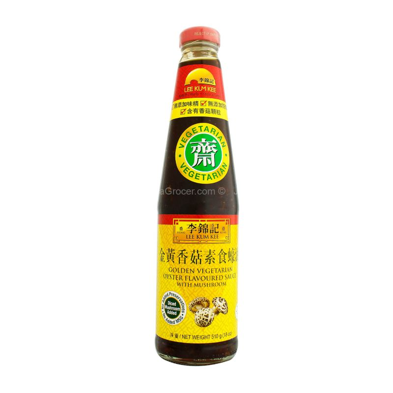 Lee Kum Kee Golden Vegetarian Oyster Flavoured Sauce with Mushroom 510g