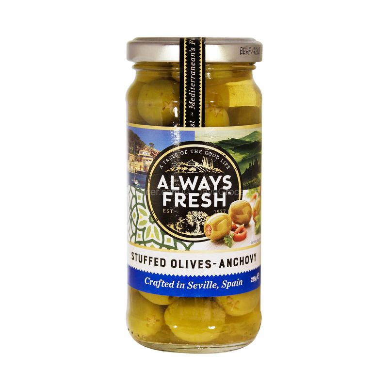 Always Fresh Stuffed Olives-Anchovy Pickles 235g