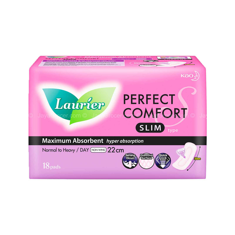 Laurier Perfect Comfort Ultra Slim Non Wing Pad 18pads
