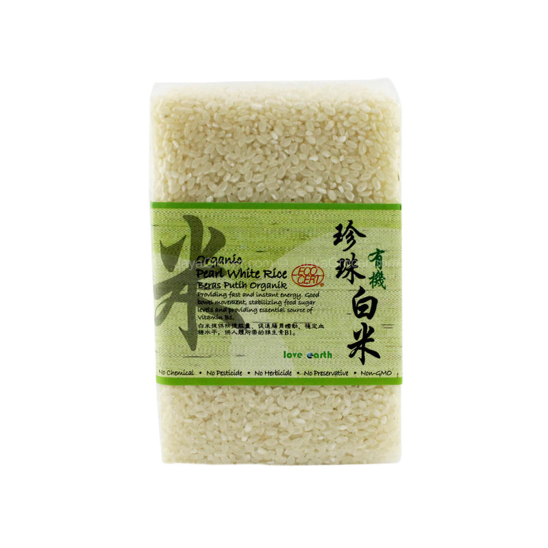 Love Earth Organic Pearl White Rice 1kg
