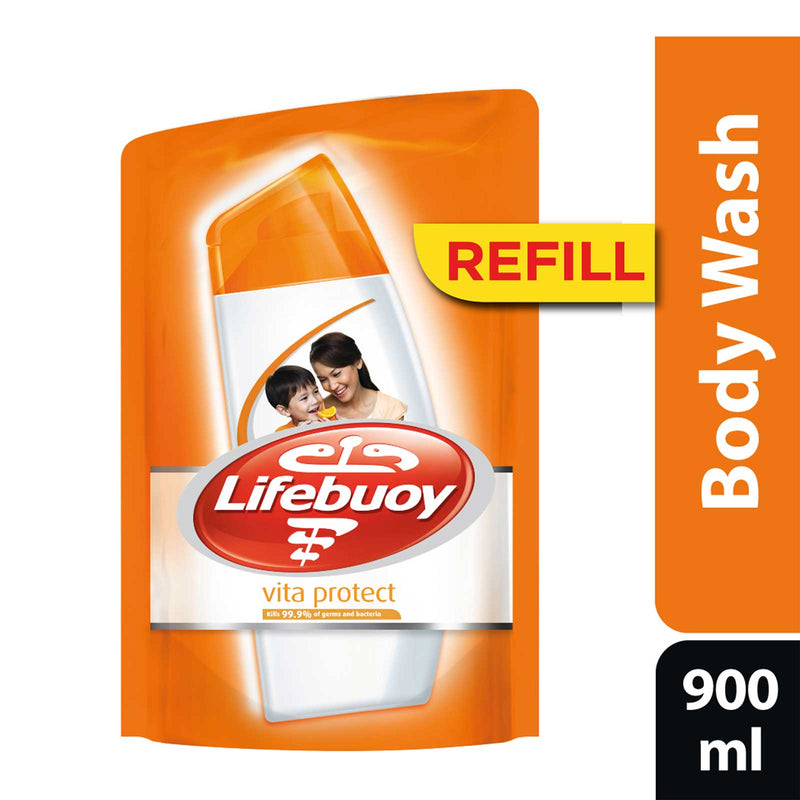 Lifebuoy Vita Protect Antibacterial Body Wash Refill Pack 900ml