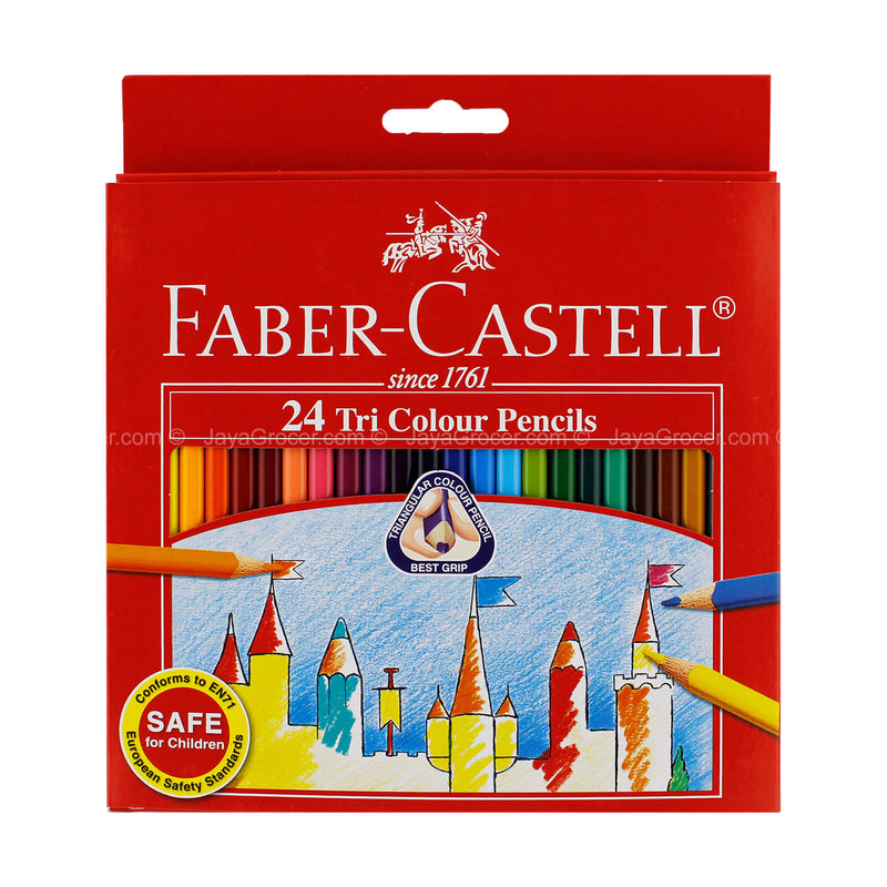 Faber-Castell 24 Tri Colour Pencils 24 1unit