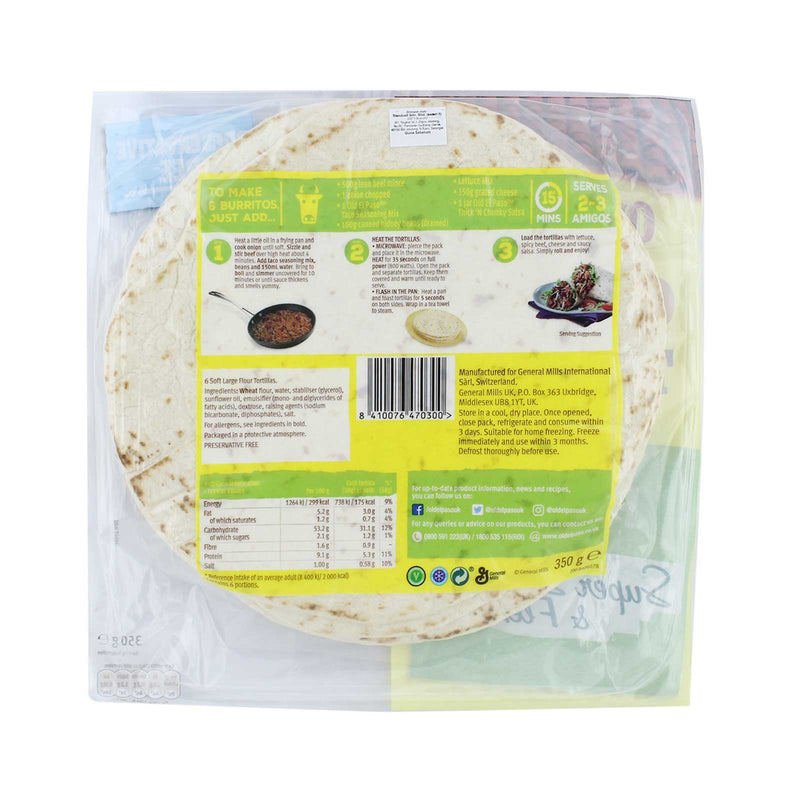 Old El Paso Tortillas Wrap 350g