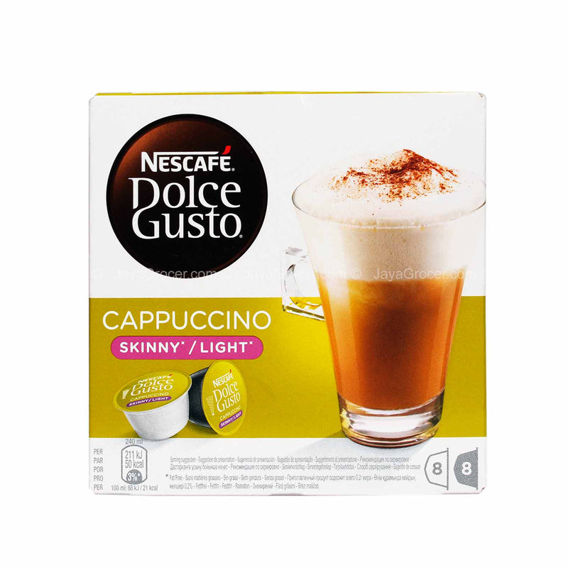 Nescafe Dolce Gusto Skinny/Light Cappuccino Coffee Pods 161.6g